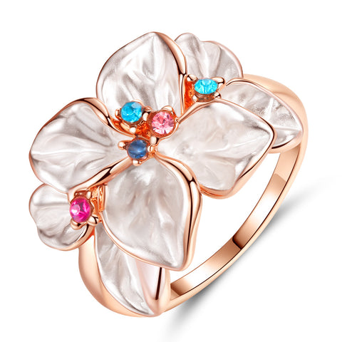 Women Jewelry Rose Gold Multi Petal Flower Ring Lady Wedding Rings Gift | Edlpe