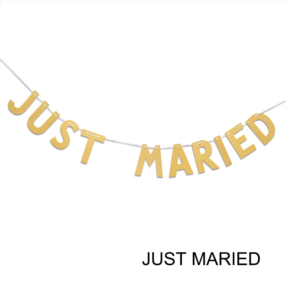 Gold Glitter Paper Garland Bunting Banner Party Festival Wedding Engagement Party Decoration | Edlpe