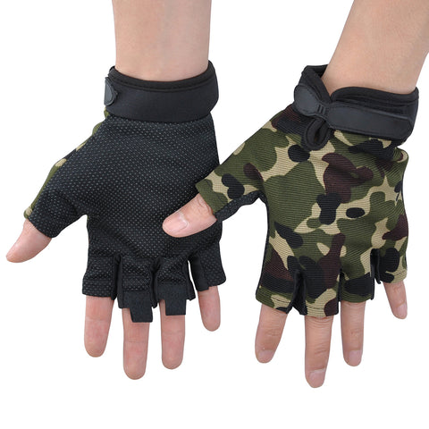 Men Half Finger Full Finger Fitness Cycling Gloves Anti-Slip Silicon Military Enthusiasts Gloves | Edlpe