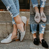 Image of Womens Tassel Pointed Toe Loafer Low Heel Side Cut Out Sandals Casual Slip One Flat Shoe | Edlpe