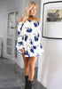 Image of New Women Floral Print Off Shoulder Short Mini Dress Ladies Summer Holiday Dress | Edlpe