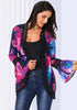 Image of Anthomedusae Print Lace Long Sleeves Summer Kimono Cardigan | Edlpe