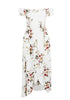 Image of Women Floral Print Off The Shoulder Long Dress | Edlpe