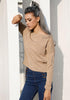 Image of Women Sexy Lace Up Backless Long Sleeves Sweater | Edlpe