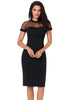 Image of Women Fashion Black Sexy Mesh Short Sleeves Party Dress | Edlpe