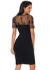 Image of Women Stylish Black Sexy Mesh Short Sleeves Party Dress | Edlpe