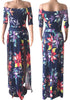 Image of One Piece Off Shoulder Floral Holiday Maxi Dress | Edlpe