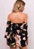 Image of Women Off Shoulder Floral Lace Up Romper | Edlpe