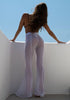 Image of High Waist Sexy See Through Flared Trousers | Edlpe