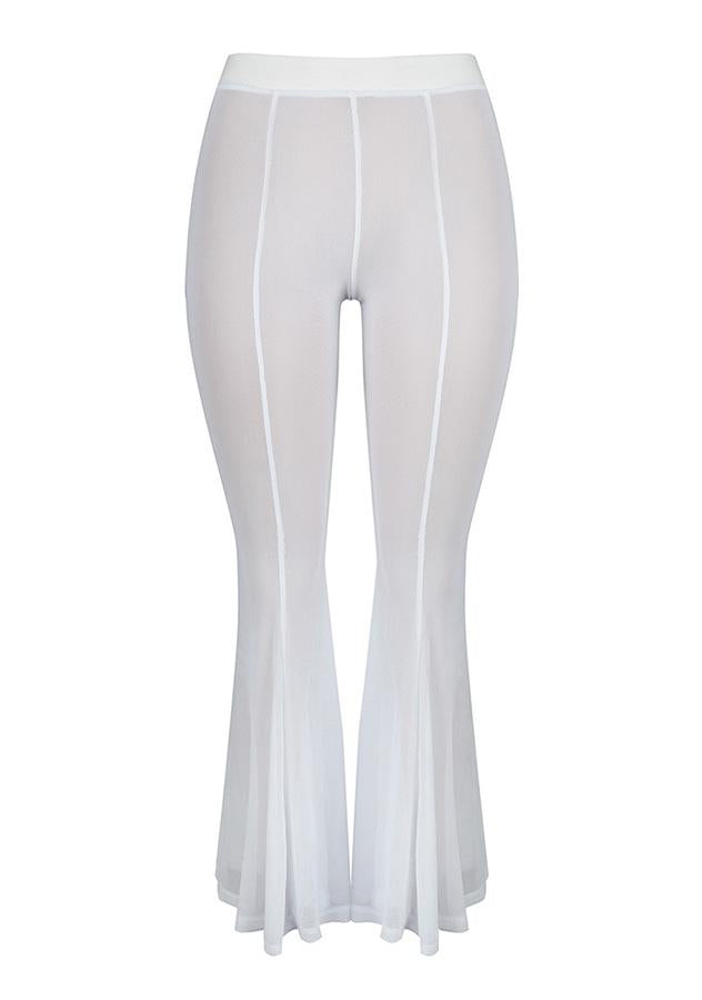 High Waist Sexy See Through Flared Trousers | Edlpe