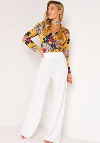 Stylish One Piece Deep V Neck Floral Club Bodysuit | Edlpe