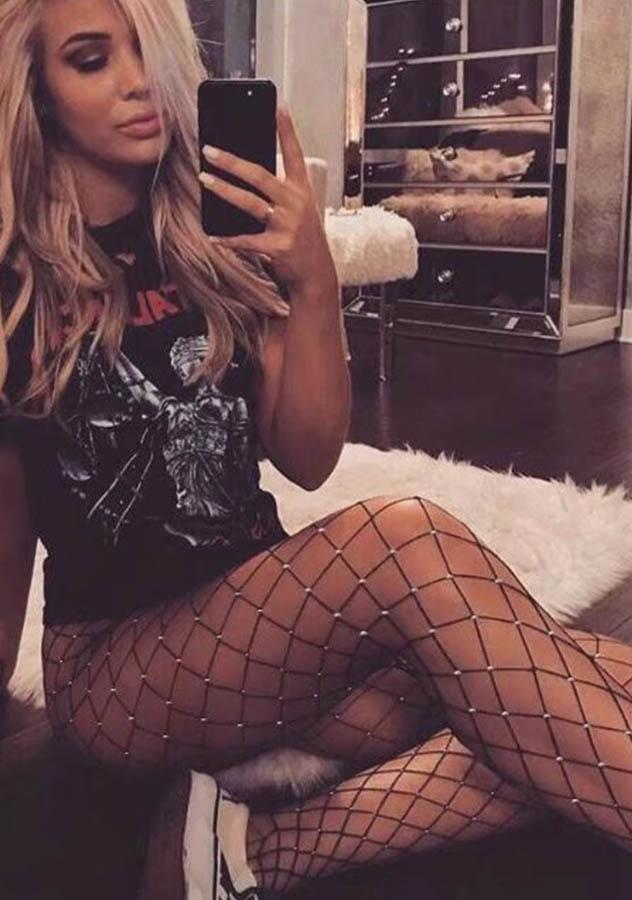 Women Sexy Sparkle Fishnet Tights | Edlpe