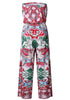 Image of Off Shoulder Bandeau Floral Resort Jumpsuit | Edlpe
