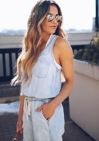 Fashion Women Sleeveless Casual Jumpsuits | Edlpe