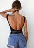 Image of Sexy Tie Front Backless Jumpsuits Bodysuit | Edlpe