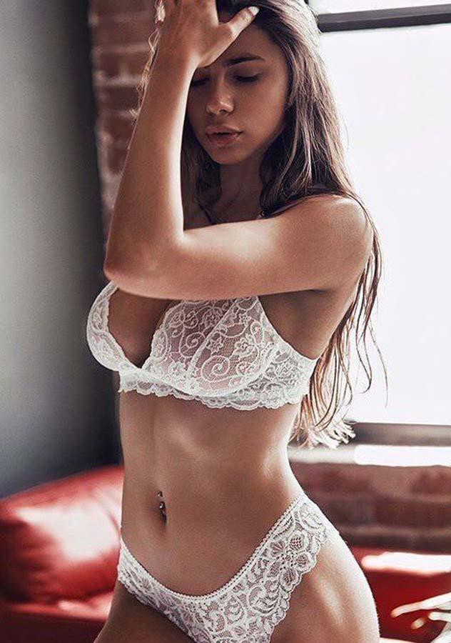 White Two Pieces See Through Delicate Lingerie Set | Edlpe