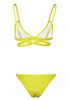 Image of Lemon Yellow Bandage Triangle Two Pieces Bikini Set | Edlpe