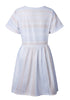 Image of Casual All-Match Stripe Round Neck Swing Dress | Edlpe