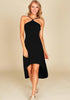 Image of Elegant Halter Neck Backless High-Low Party Dress | Edlpe
