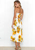 Image of Holiday Two Pieces Floral Elastic Bandeau A-Line Midi Skirt Set | Edlpe