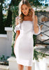 Image of Elegant Off Shoulder Flounced Hip Package Bodycon Dress | Edlpe