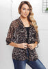 Image of Summer Leopard Print Half Sleeves Lightweight Cardigan | Edlpe