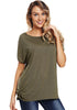 Image of Concise Cold Shoulder Raglan Sleeves Back Lace-Up Blouse | Edlpe