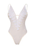 Image of Lace Stitching Open Back One Piece Swimsuit | Edlpe