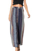 Image of Women Holiday Bohemian Stripe Wide Leg Trousers | Edlpe