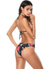 Image of Floral Printed High Thigh Lace Up Open Back One Piece Swimwear | Edlpe