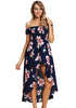 Image of Floral Off Shoulder Holiday High-Low Dress | Edlpe