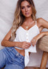 Image of Summer Pure Color Sling Knot Tie Button Vest Top | Edlpe