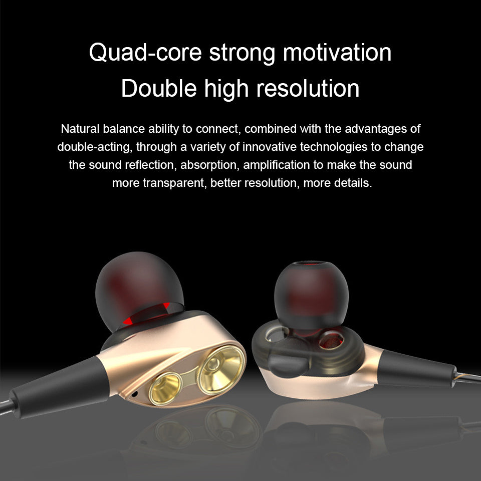 Headphone Mic Earbud Headset Hifi Earphone Drive-By-Wire Moving Coil Microphone | Edlpe