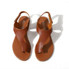 Image of Summer Women Gladiator Open Toe Sandals Female Leather Flip Flops Beach Sling-Back Shoes | Edlpe