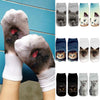 Image of Lovely 3D Print Cotton Ankle Socks Casual Cat Cartoons Cute Art Women Sock Girl | Edlpe