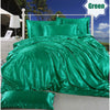 Image of Satin Silk Bedding Set 3/4 Pcs Bed Set Duvet Cover Flat Sheet Pillowcase Twin Double Full Queen King | Edlpe