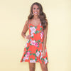 Image of Womens Summer Boho Floral Straps V-Neck Mini Dress Lady Holiday Beach Sundress | Edlpe