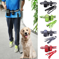 Pet Dog Cat Running Waist Belt Reflective Strip Elastic Leash Perfect Walking Training Dog Leash | Edlpe