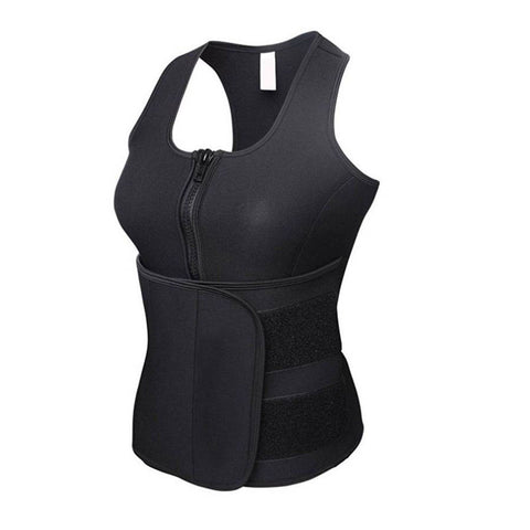 Women Neoprene Waist Body Shapewear Push Up Sweat Slimming Belt Vest Top | Edlpe