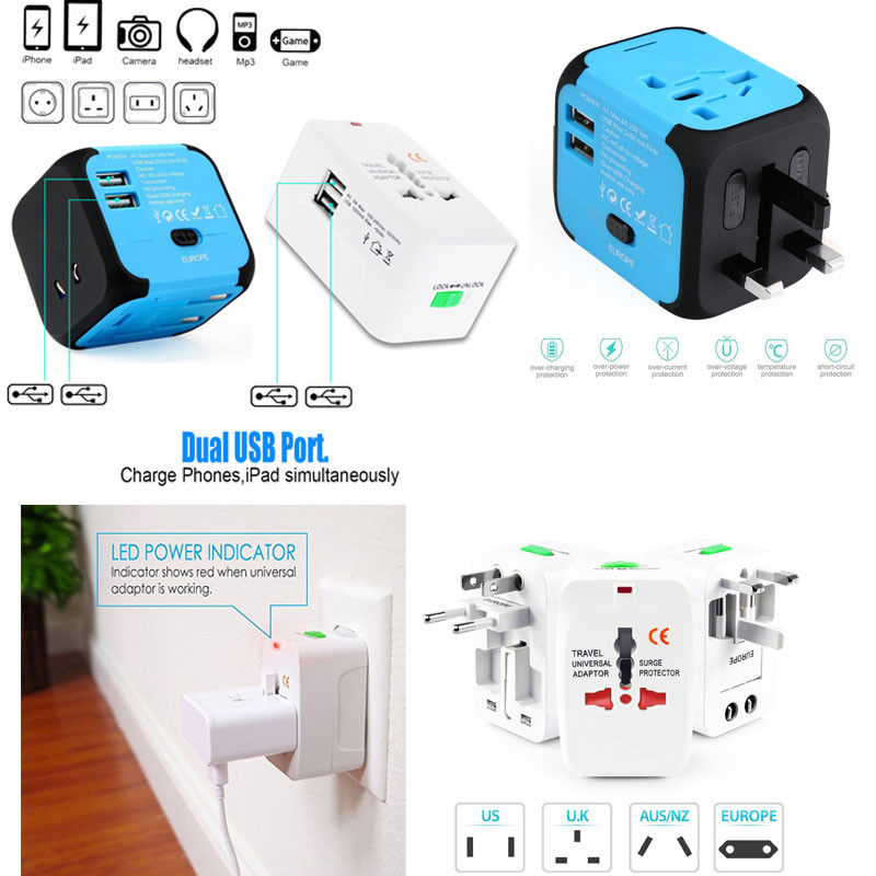 Usb International Travel Plug Us Eu Universal Power Adapter Travel Converter | Edlpe