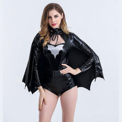 Sexy Women Halloween Costume Vampire Cosplay Fancy Dress Bat Hero Jumpsuit | Edlpe