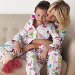 Family Matching Women Kids Christmas Xmas Pyjamas Pjs Sets Dinosaur Nightwear | Edlpe