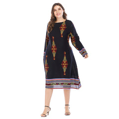 Womens Ladies Holiday Long Sleeve Boho Maxi Dress Sundress Summer Plus size