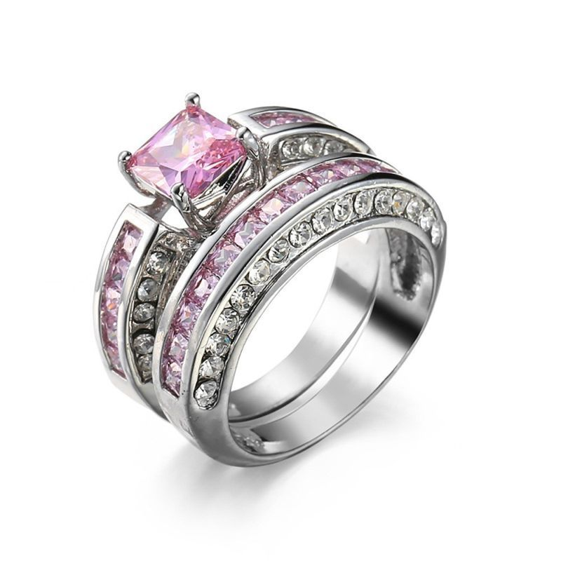 Women Wedding Jewelry Ring Princess Style Engagement Gift Jewelry | Edlpe