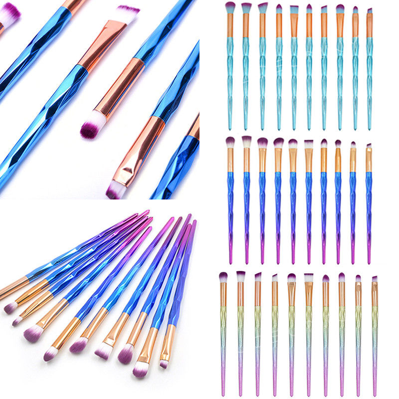 10Pcs Brushes Diamond Eyeshadow Eyebrow Blending Brush Set Eye Makeup Brush | Edlpe