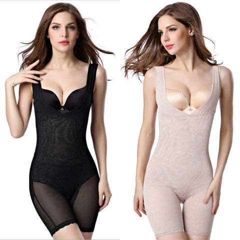 Women Full Body Waist Trainer Bodysuit Shaper Underbust Corset Shapewear M-3Xl | Edlpe