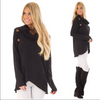 Image of Womens Long Sleeve Asymmetric Sweatshirt Pullover Tops Jumper Coat | Edlpe