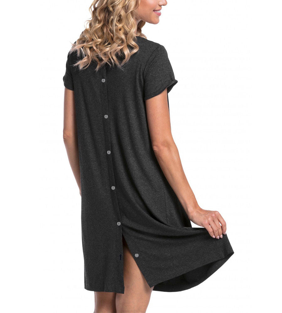 Pregnant Women Short Sleeve Maternity Dress Breastfeeding Summer Casual Dress | Edlpe