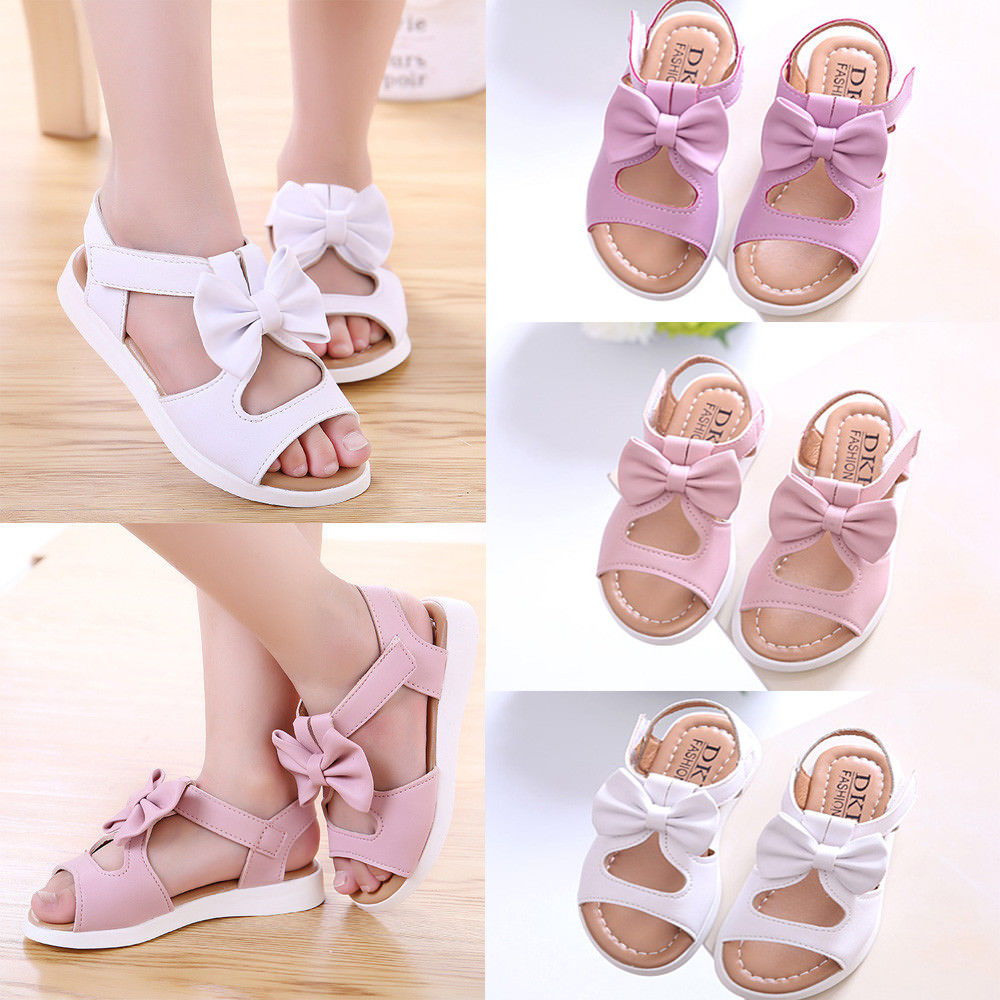 Summer Kids Children Casual Sandals Fashion Bowknot Girls Flat Pricness Shoes Size | Edlpe