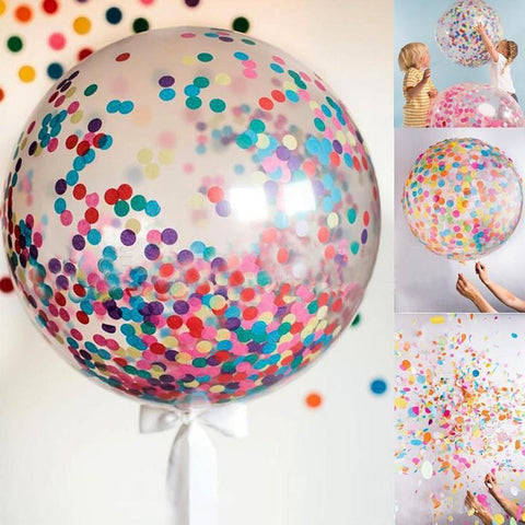 36 Konfetti Transparent Ballon Birthday Ballons Decoration Wedding | Edlpe